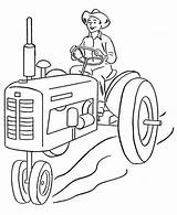 Farmer Coloring Tractor Pages Farm Sheets Printable Farmers Drawing Case Insurance Combine Sketch Template Coloringfolder Credit sketch template