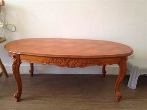Table Basse Occasion : table merisier ovale clasf ~ Teatrodelosmanantiales.com Idées de Décoration