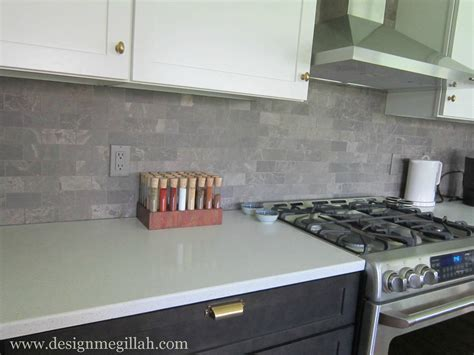 Light Gray Backsplash : Smoke Glass Subway Tile