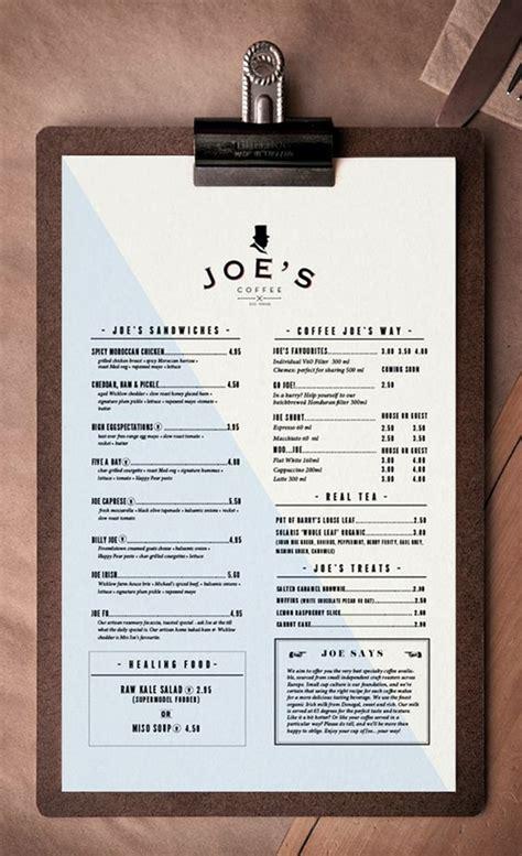smart  creative menu card design ideas
