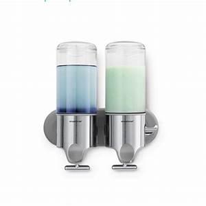 Distributeur De Savon Mural Automatique : distributeur savon shampoing duo salle de bain ~ Edinachiropracticcenter.com Idées de Décoration