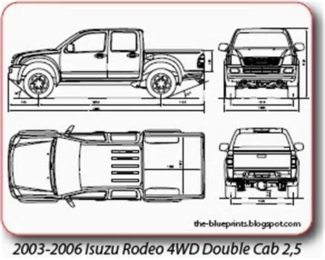 vector blueprints cars trucks busses   isuzu
