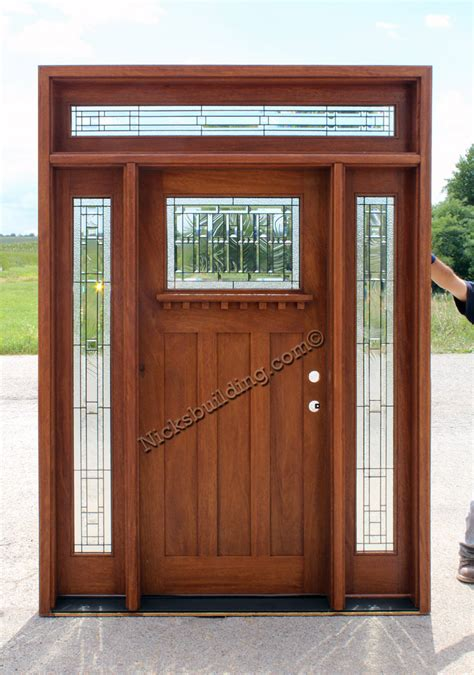 craftsman style doors arts and crafts shaker doors nicksbuilding
