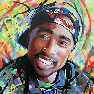 Tupac Portrait Painting by Richard Day