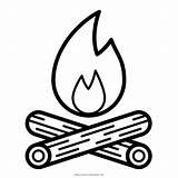 Campfire Coloring sketch template