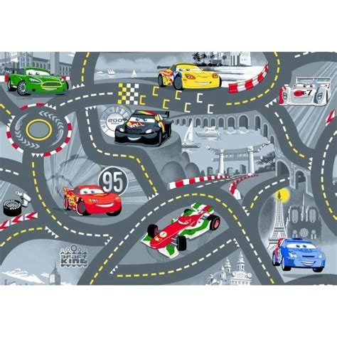 chambre flash mcqueen tapis enfant cars circuit de voiture achat vente tapis