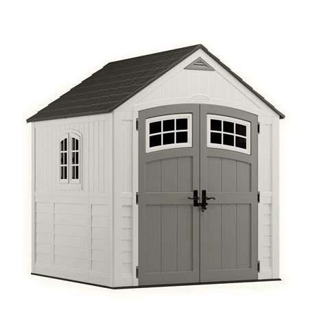 suncast cascade storage shed 7 feet x 7 feet the home
