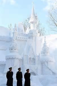 Snow Festival Sapporo Japan Ice Sculpture