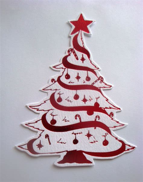 5 die cut large christmas tree topper embellishments
