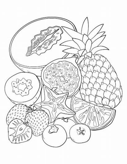 Coloring Pages Fruit Adult Colouring Myplate Middle
