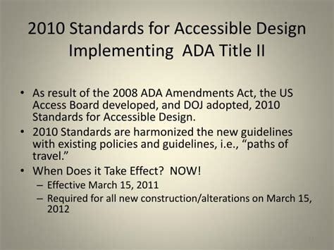 2010 ada standards for accessible design ppt ada update powerpoint presentation id 1649488