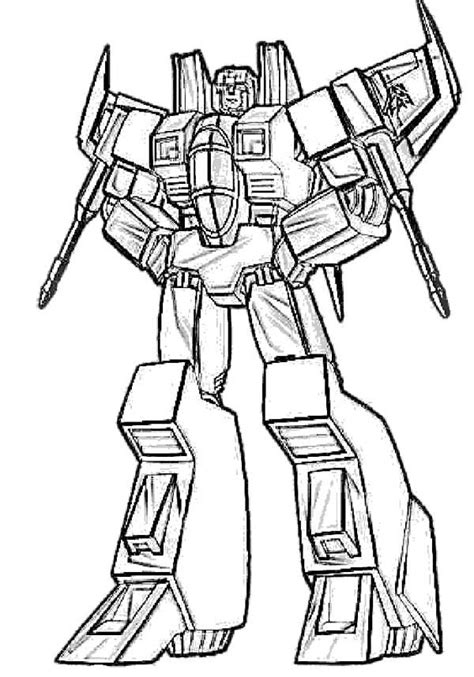 starscream transformers coloring page coloring pages