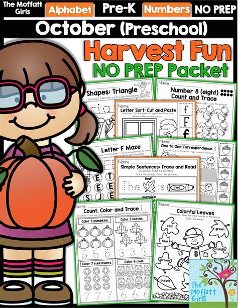 preschool  prep packet  october teach numbers