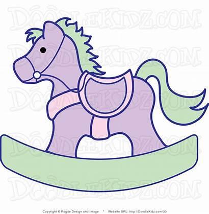 Clipart Nursery Clip Horse Rocking Illustration Lavender