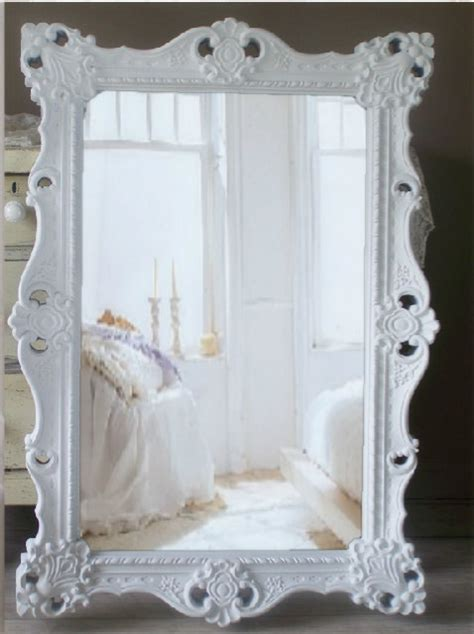 large shabby chic mirror white g l a m o u r white baroque mirror large shabby chic