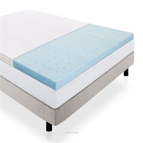 memory foam mattress topper lucid gel infused memory foam mattress topper review
