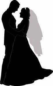 Wedding Couple Silhouette Clip Art Clipart | СИЛУЭТЫ ...