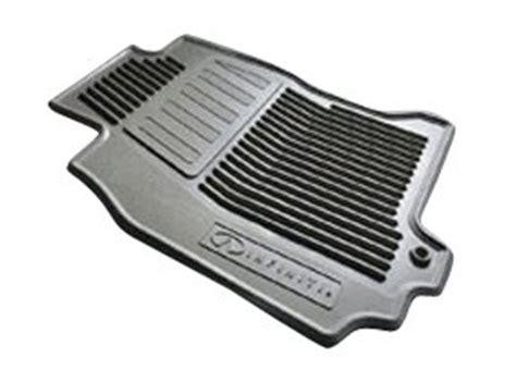 infiniti genuine factory original all season rubber floor mats grey set of 4