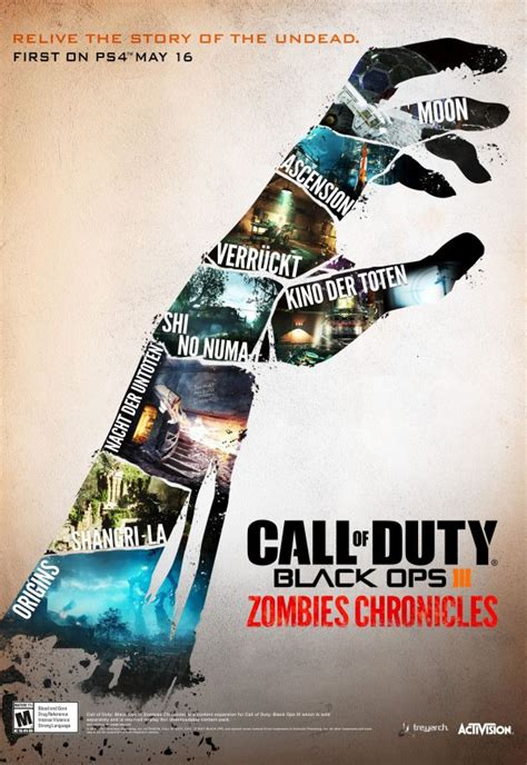 ops chronicles zombies duty iii call ps4