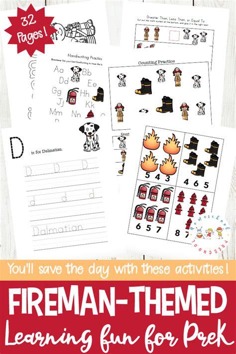 free firefighter printables for preschool and kindergarten 748 | Fireman Printables PIN