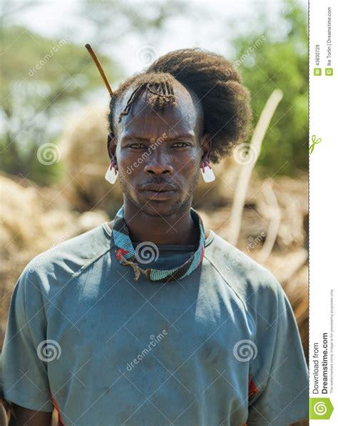 traditionally dressed man  tsemay tribe omo valley