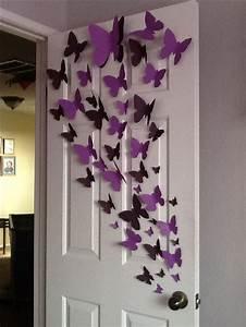 Paper butterfly wall art diy