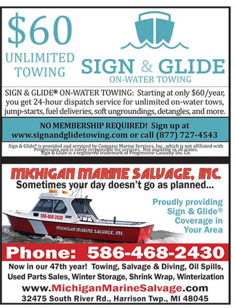 Boat Salvage Mi by Michigan Marine Salvage Towing Lake St Clair Guide