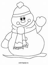 Snowman Coloring Abominable Pages Printable Print Getcolorings sketch template