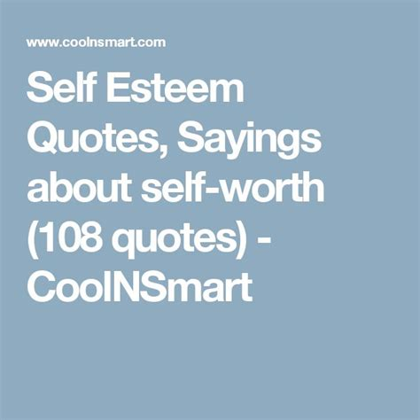 Quotes About Self Worth 17 Best Self Esteem Quotes On Inspirational