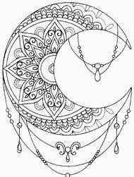 Image result for sun and moon mandala coloring pages