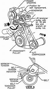 How To Change Serpentine Belt For 1995 Pontiac Bonneville