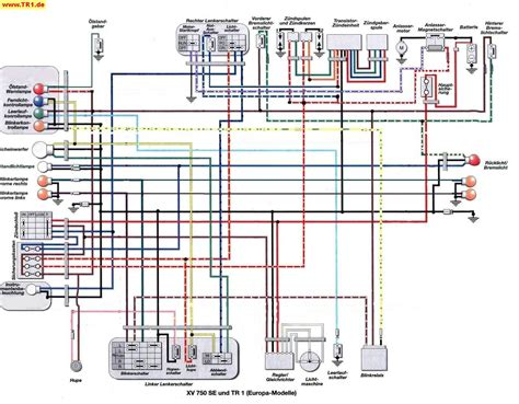 1993 Yamaha Virago 750 Wiring Diagram Schematic by Tr1 Xv1000 Xv920 Wiring Diagrams Manfred S Tr1 Page