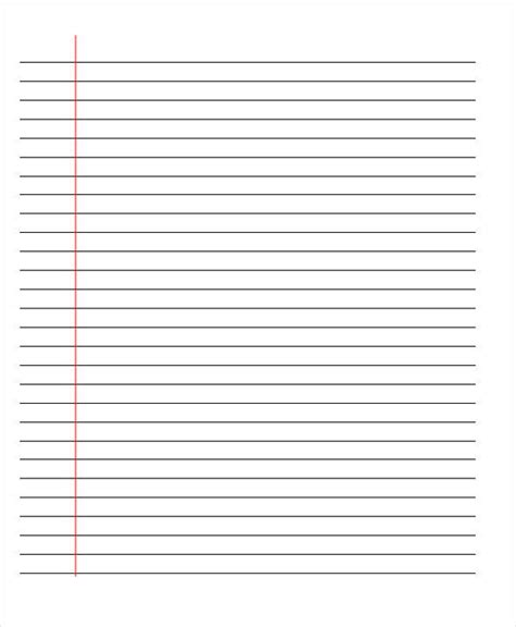 lined paper template 22 lined paper templates free premium templates