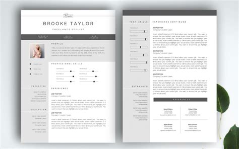 Pages Layout Resume by The Best Cv Resume Templates 50 Exles Web Emailing