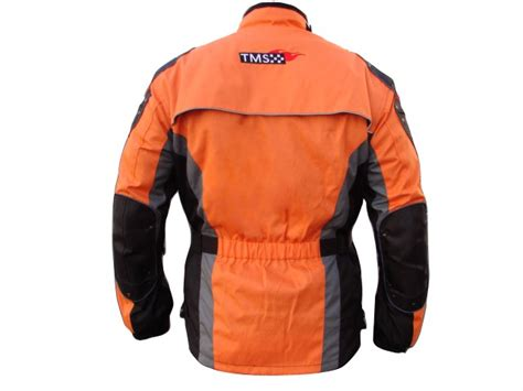 Mens Orange Enduro Armor Motorcycle Jacket Touring Dual