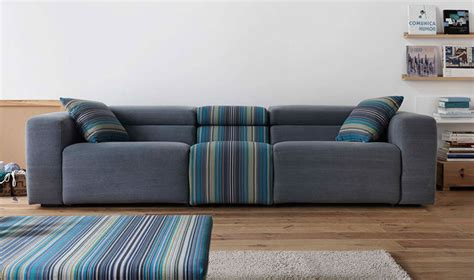 canape tissu rayures canap design 3 places en tissu gris et rayures relax