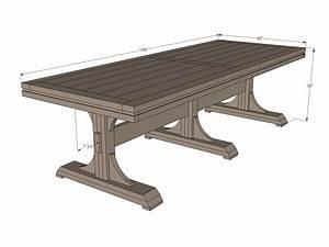 Ana White Triple Pedestal Farmhouse Table - DIY Projects