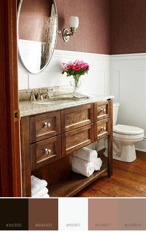 Brown Color Schemes For Bathrooms by What Colors Go With Brown Better Homes Gardens