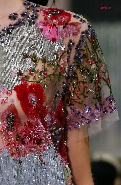 valentino spring  couture embroidery couture