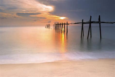 papier peint pour chambre à coucher papier peint trompe l 39 oeil panoramique coucher du soleil mer