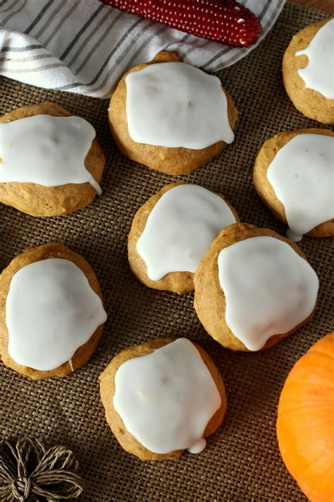 Famous Soft Glazed Pumpkin Cookies - Chocolate With Grace