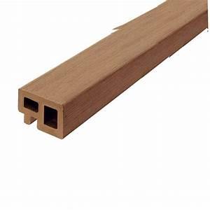 Lambourde Terrasse Composite : lambourde terrasse bois composite coloris marron ~ Premium-room.com Idées de Décoration
