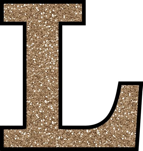 a l in the free glitter alphabet to and print