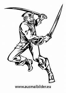 Ausmalbilder Kmpfender Pirat Piraten Malvorlagen Ausmalen