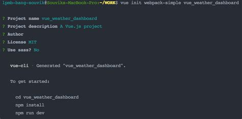 Using Vue Create Interactive Weather Dashboard
