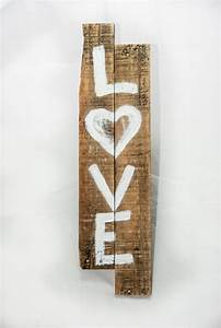 Rustic love sign shabby chic decor wall by