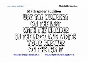 Math Is Fun  Math Spiders For Addition