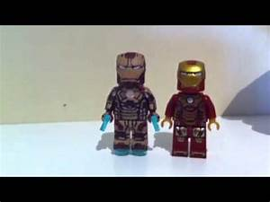 Custom Lego iron man 3 mark 42 armor showcase - YouTube