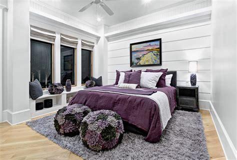 stunning black white  purple bedrooms home design