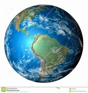 Photo Realistic Planet Earth Isolated